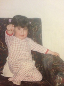 Baby me, pointing at all the bad dads out there to make a change